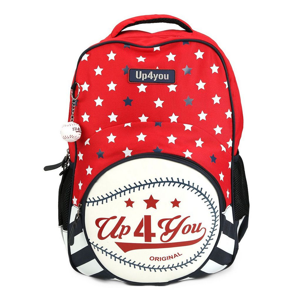 Mochila Escolar Up4you Baseball Vermelha MS45472UP