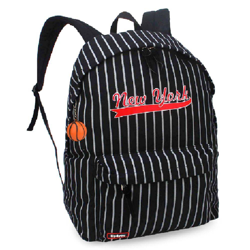 Mochila Escolar Up4you New York MS45592UP Preto
