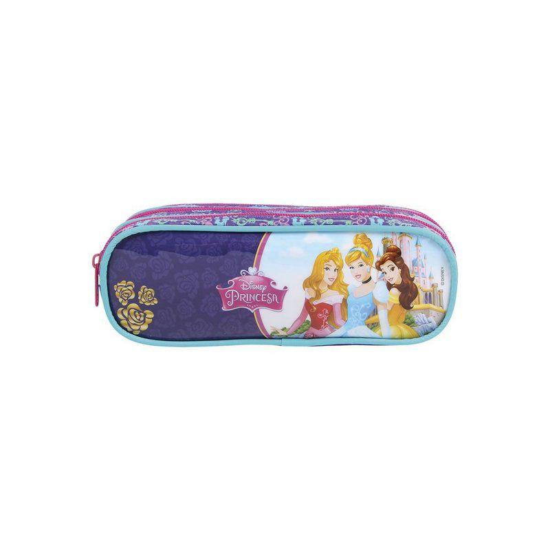 Mochila de Rodinhas Disney Princesas e Estojo