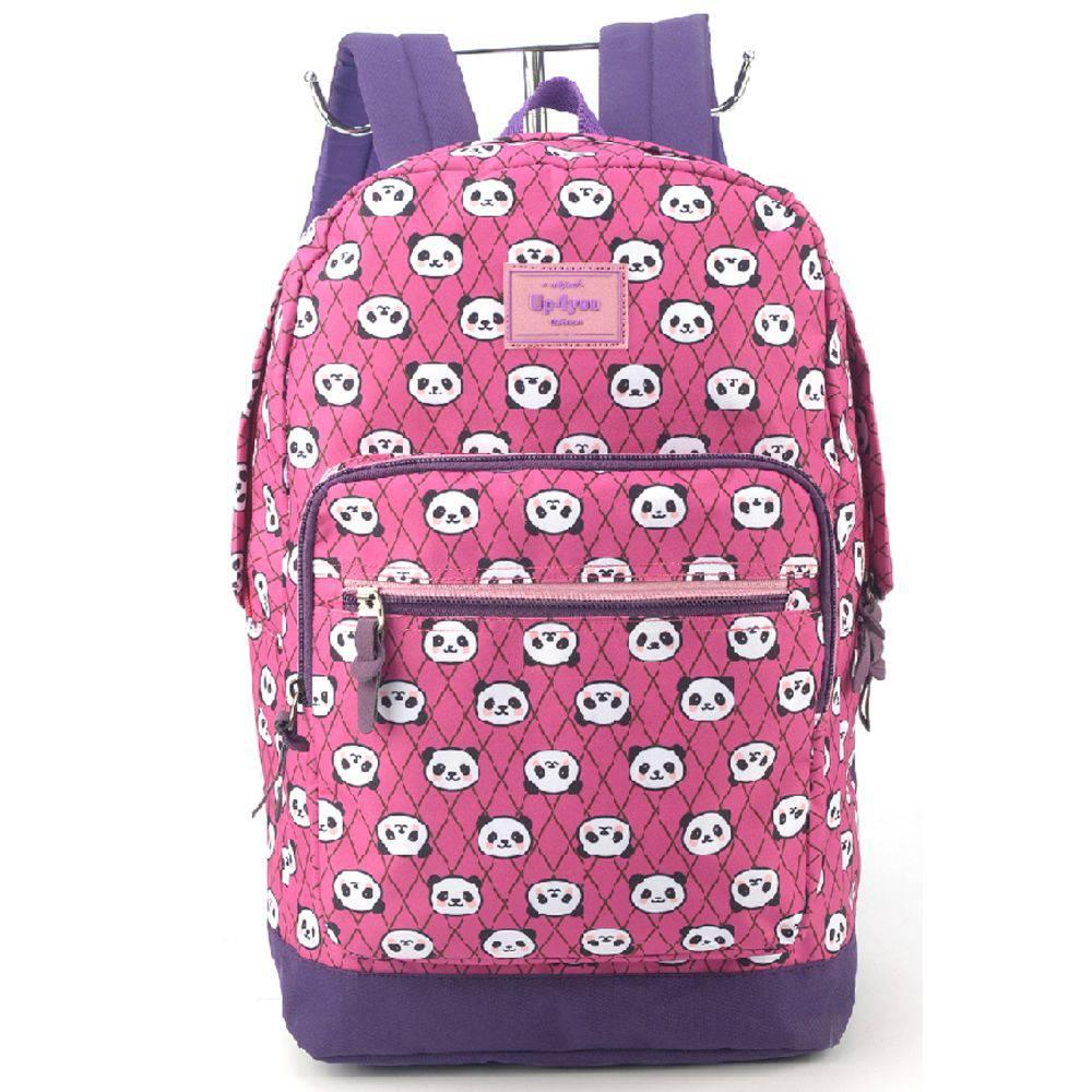 Mochila Escolar Infantil Up4you Panda Roxa MS45579UP-RX