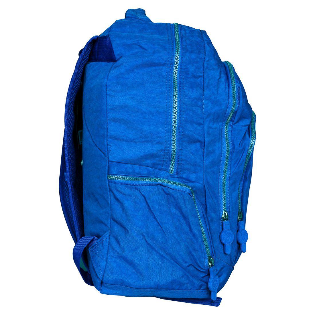 Mochila Escolar para Notebook com Estojo Azul