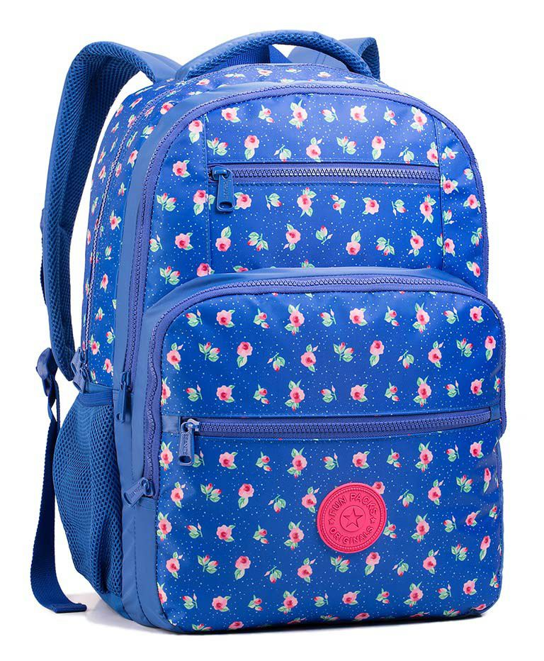 Mochila Escolar Seanite Azul Florida MJ14020