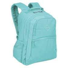 Mochila Escolar Sestini College Crinkle Azul Turquesa