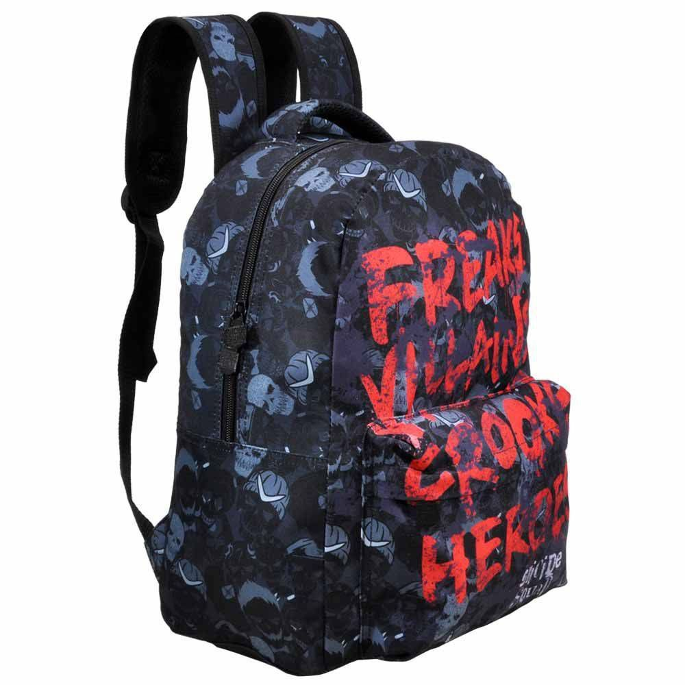 Mochila Esquadrão Suicida Escolar Preta 6692