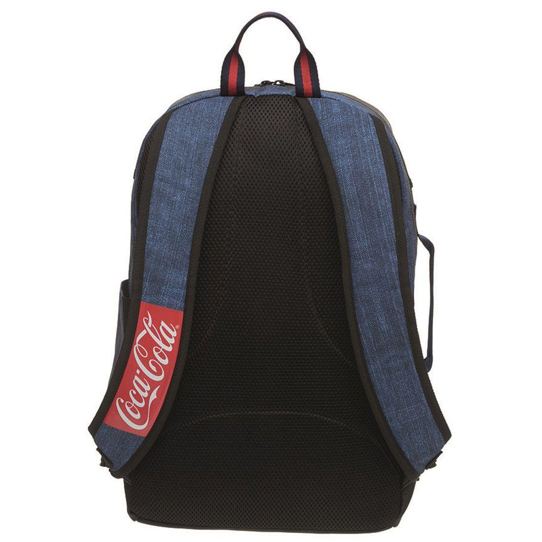 Mochila Coca Cola Denim Pro Jeans Azul