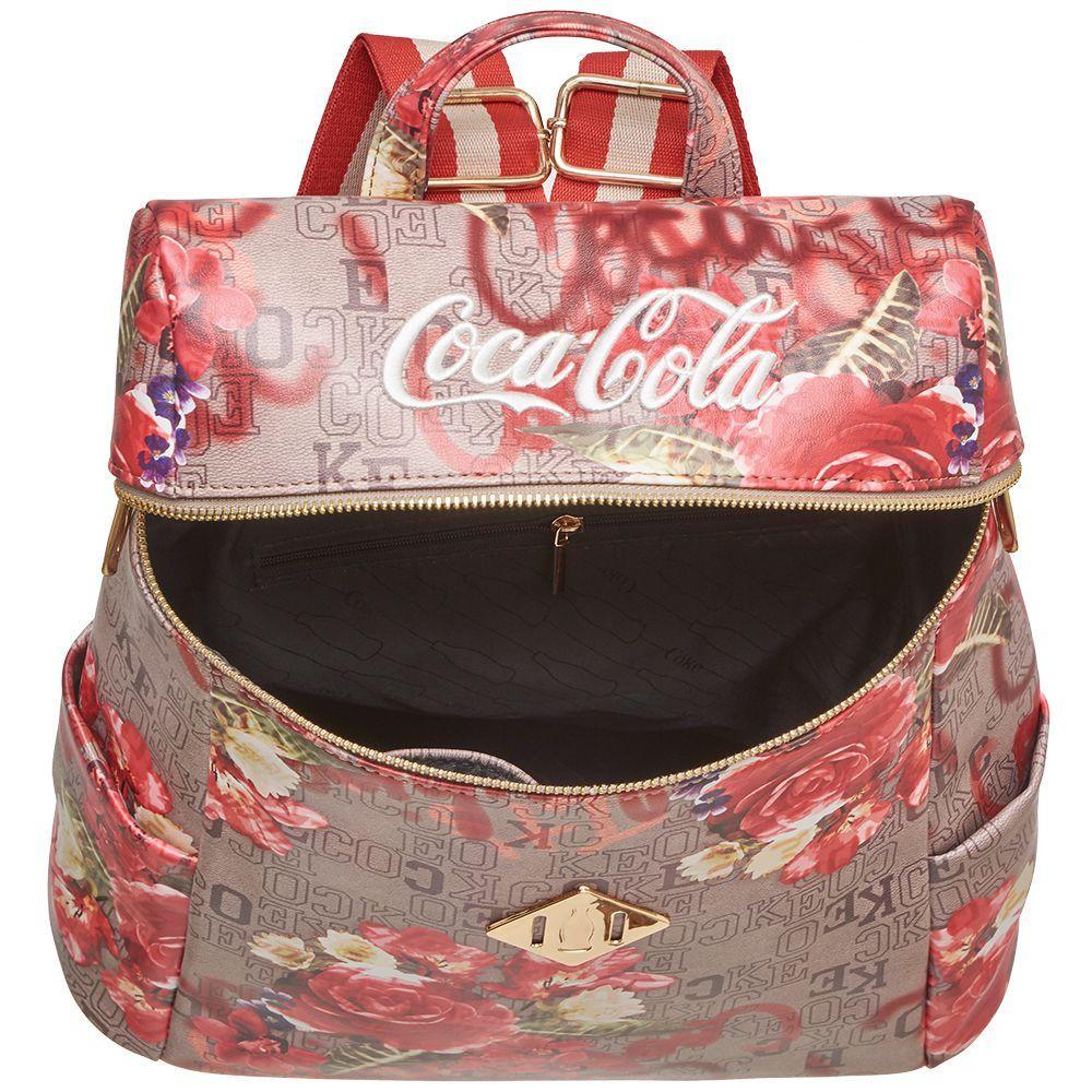 Mochila Feminina Coca Cola Monograma