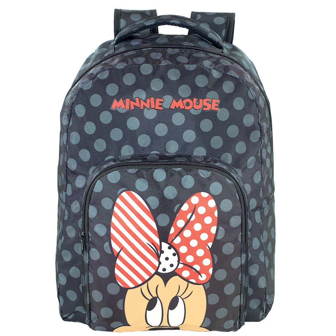 Mochila Feminina Minnie Mouse Preto 9094