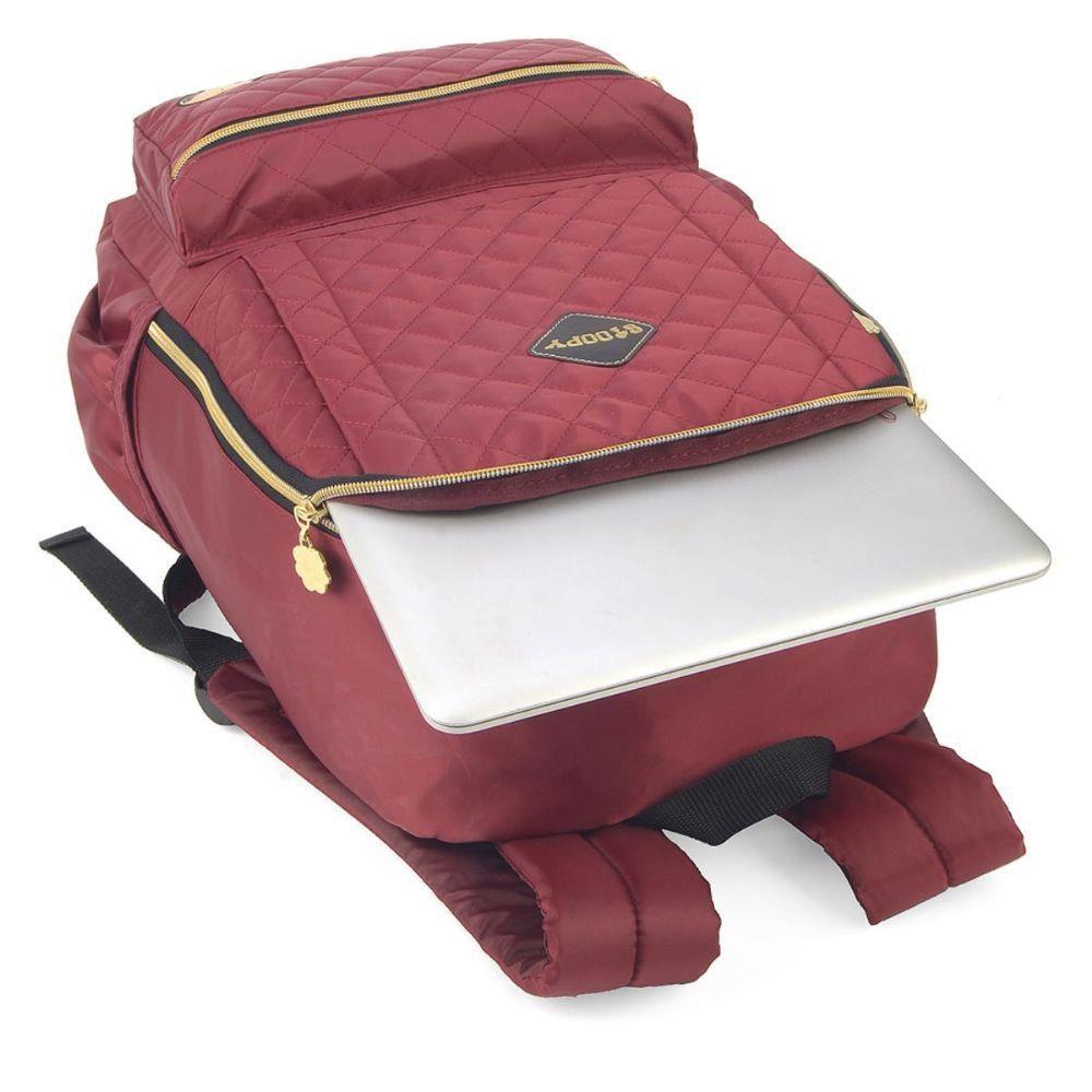 Mochila Feminina Notebook Snoopy Vinho MJ48515