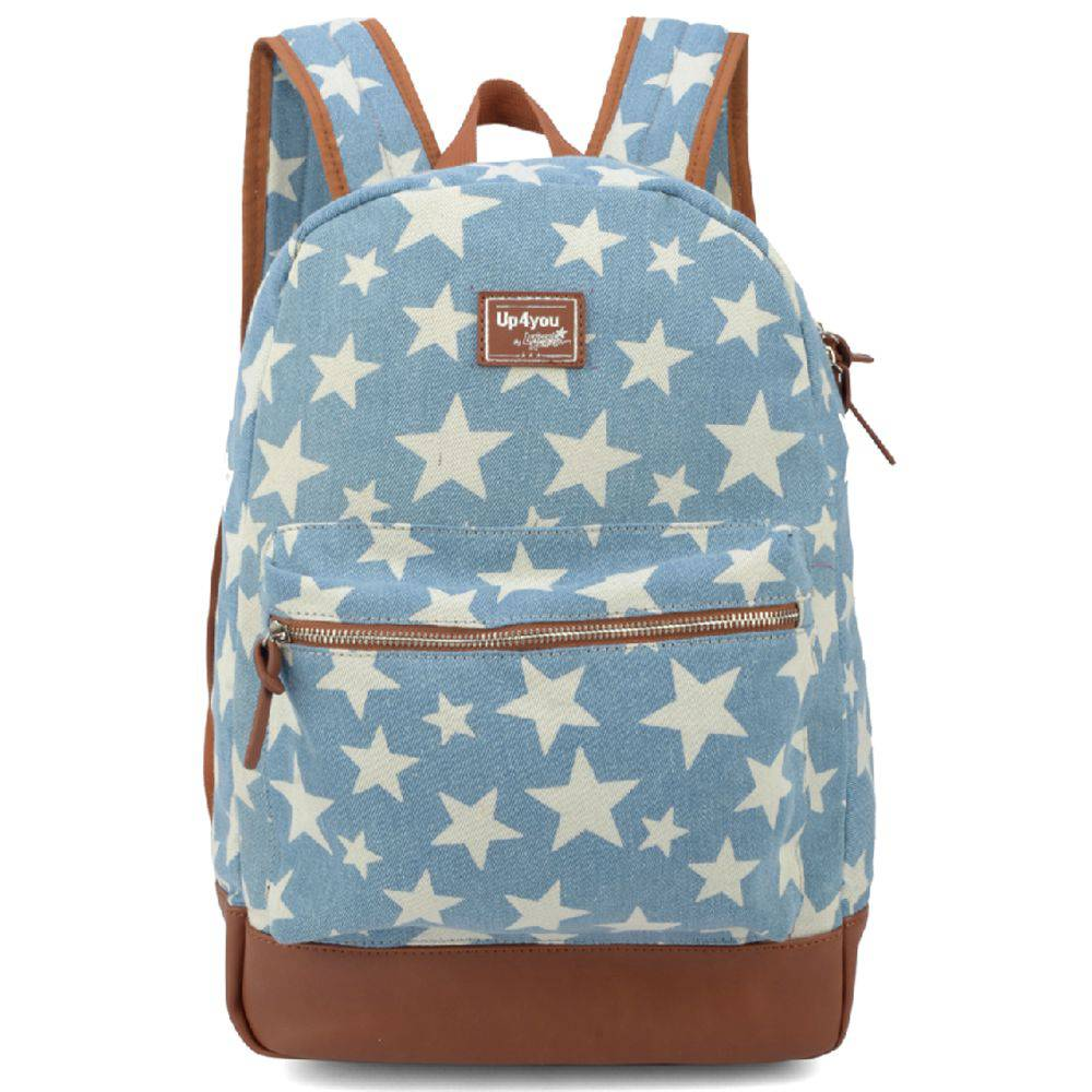 Mochila Feminina Up4you Larissa Manoela Jeans para Notebook MS48489UP-AZ Azul