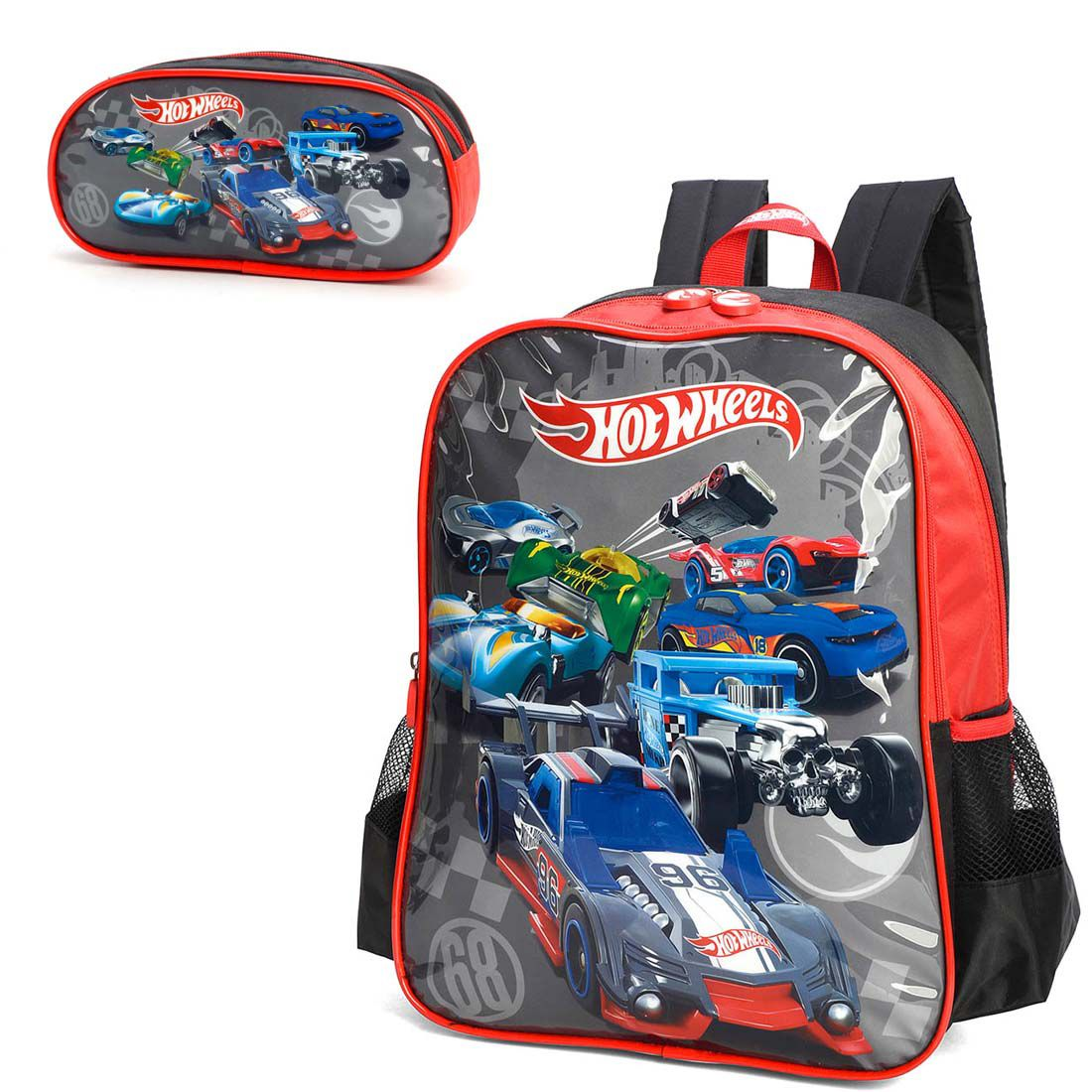 Mochila Infantil Hot Wheels IS34461HW Com Estojo