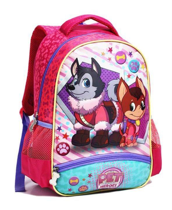 Mochila Infantil Pet Heroes Pink