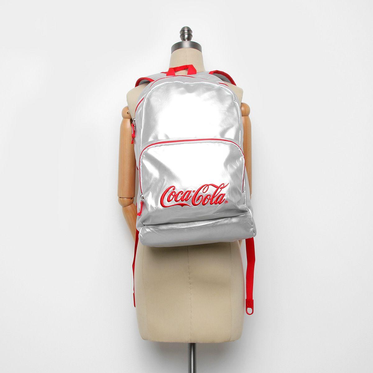 Mochila Para Notebook Coca Cola Silver 7118104