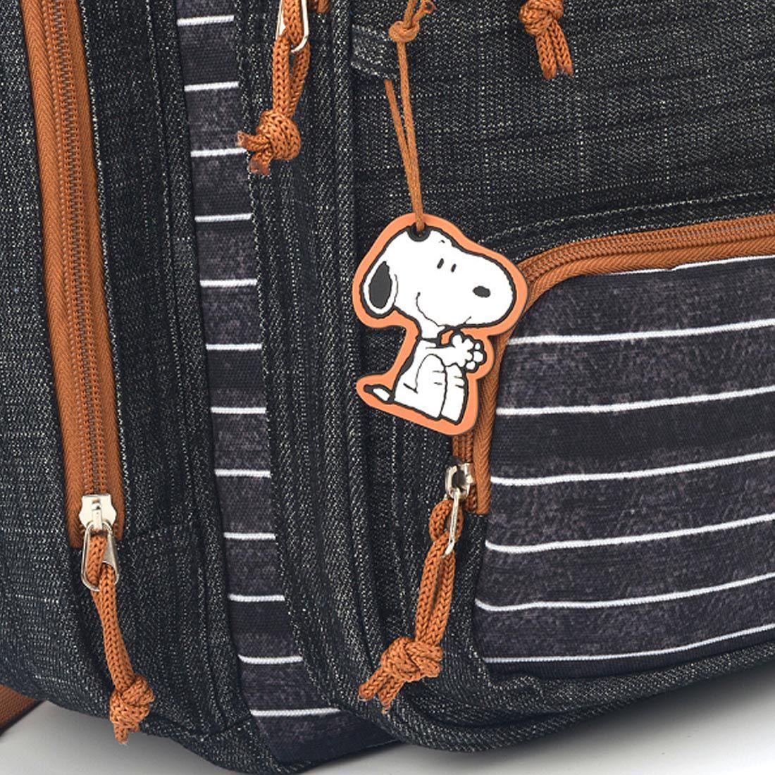 Mochila para Notebook Feminina Snoopy com Estojo MJ48518SN-PT