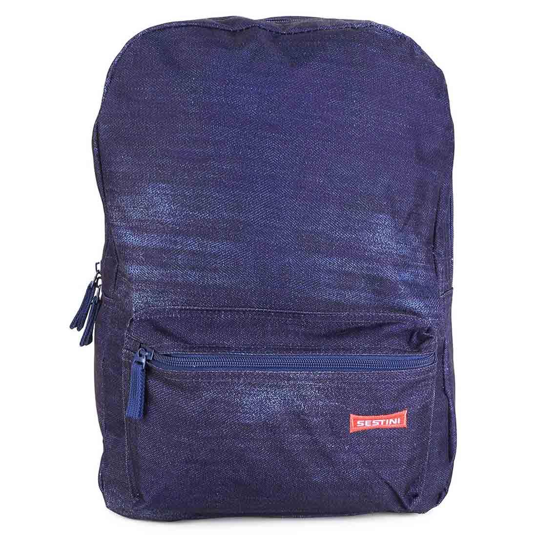 Mochila Sestini Escolar Grande Azul Jeans