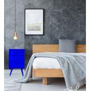 Criado Pé Palito 3 gavetas Quadrado Azul Bic