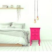 Criado Quadrado 3 GV- Rosa Pink
