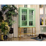 Cristaleira Industrial 2 Portas- Verde Pistache