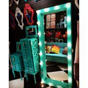 Espelho Camarim Azul Turquesa