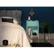 Mesa de Cabeceira Azul Bebe -1 Gaveta