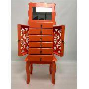 Porta Jóias 6 gavetas laranja