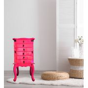 Porta Jóias 6 gavetas Rosa Pink.