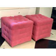 Puff retrô Pink (2 unidades)