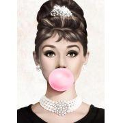 Quadro Audrey Chiclete Rosa