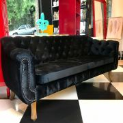 Sofá Chesterfield preto
