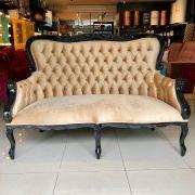 Sofá Cibele -Preto com Dourado