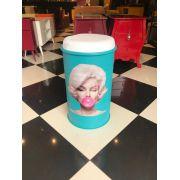 Tonel Banqueta Marilyn Azul Turquesa