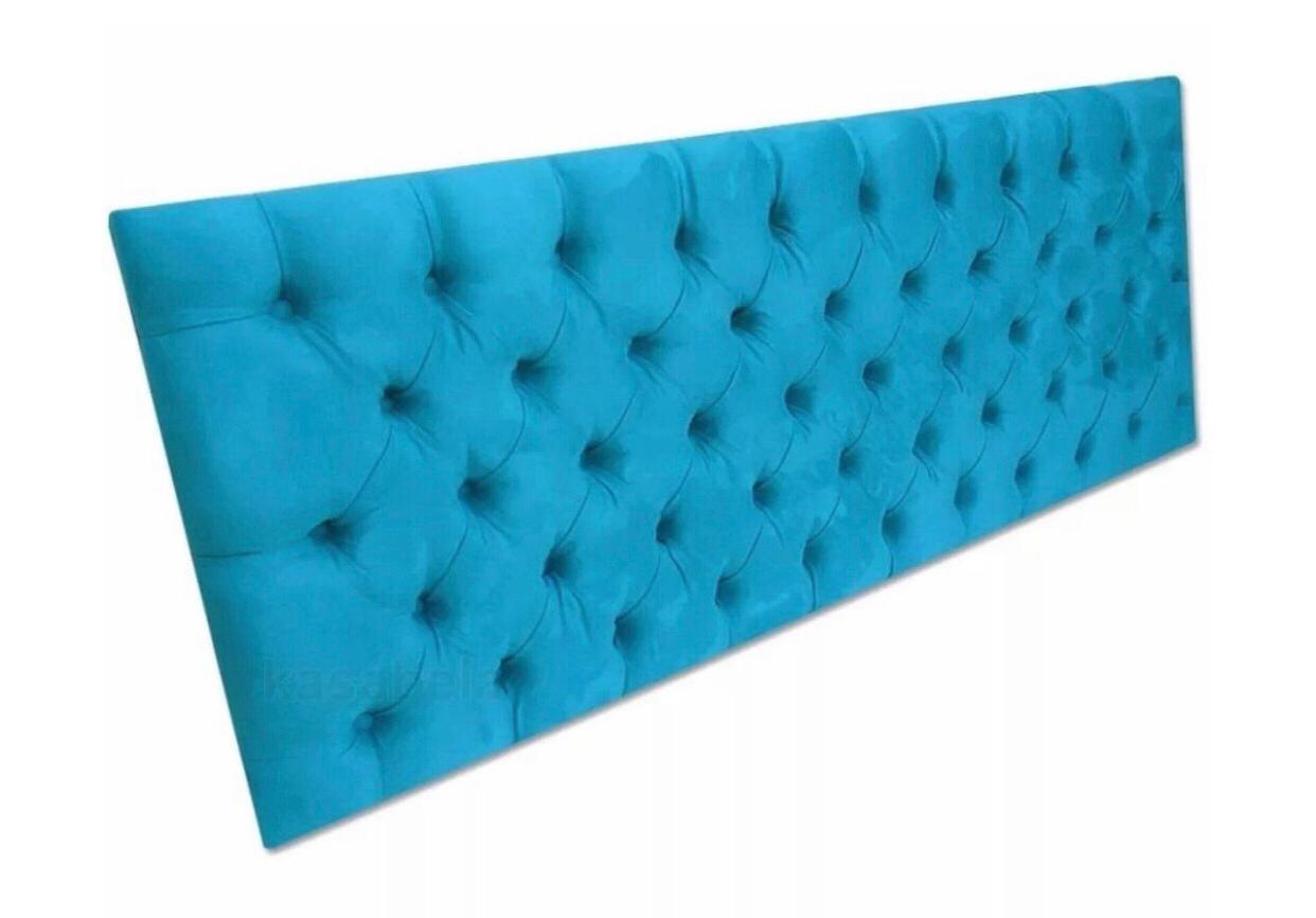 Cabeceira King- Capitonê- Azul Turquesa
