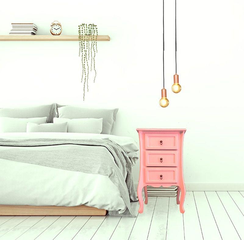 Mesa de Cabeceira Colonial 3 GV- Rosé