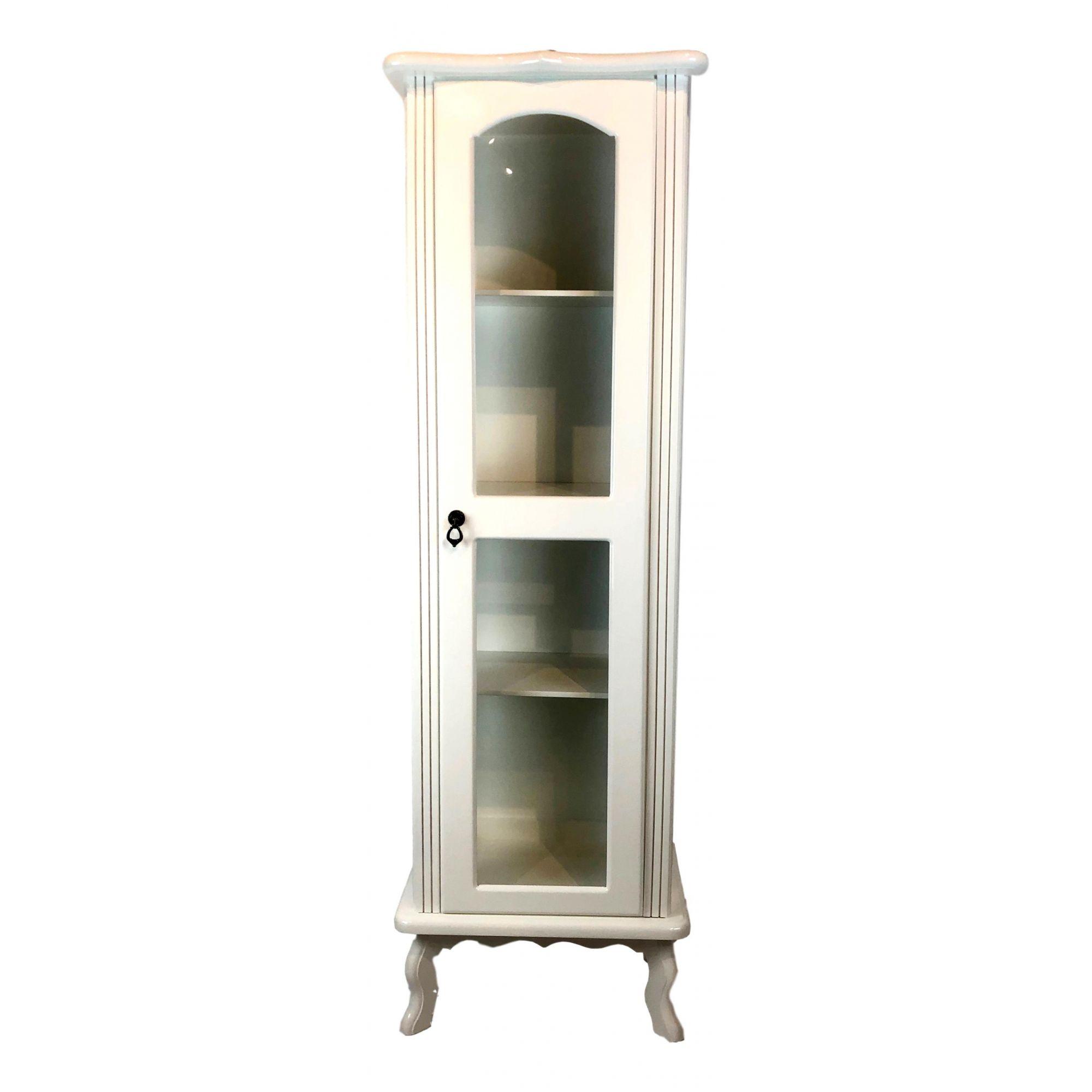 Cristaleira Colonial Branca 1 porta