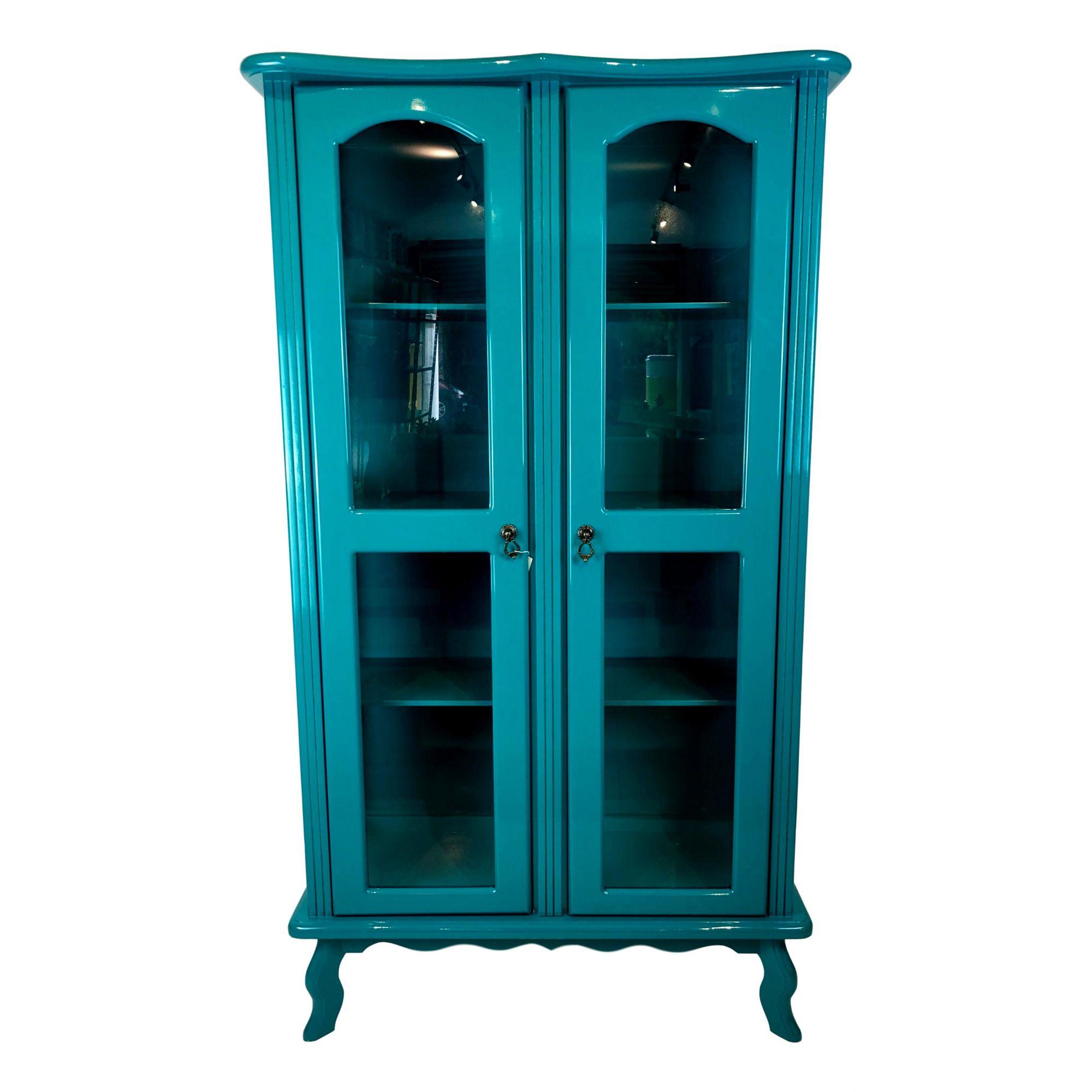Cristaleira Colonial Verde Esmeralda 2 portas