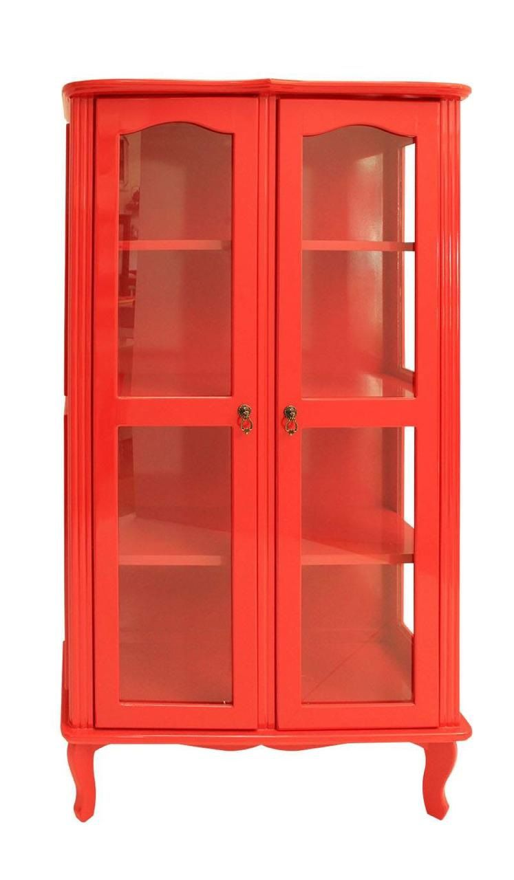 Cristaleira Colonial Vermelha