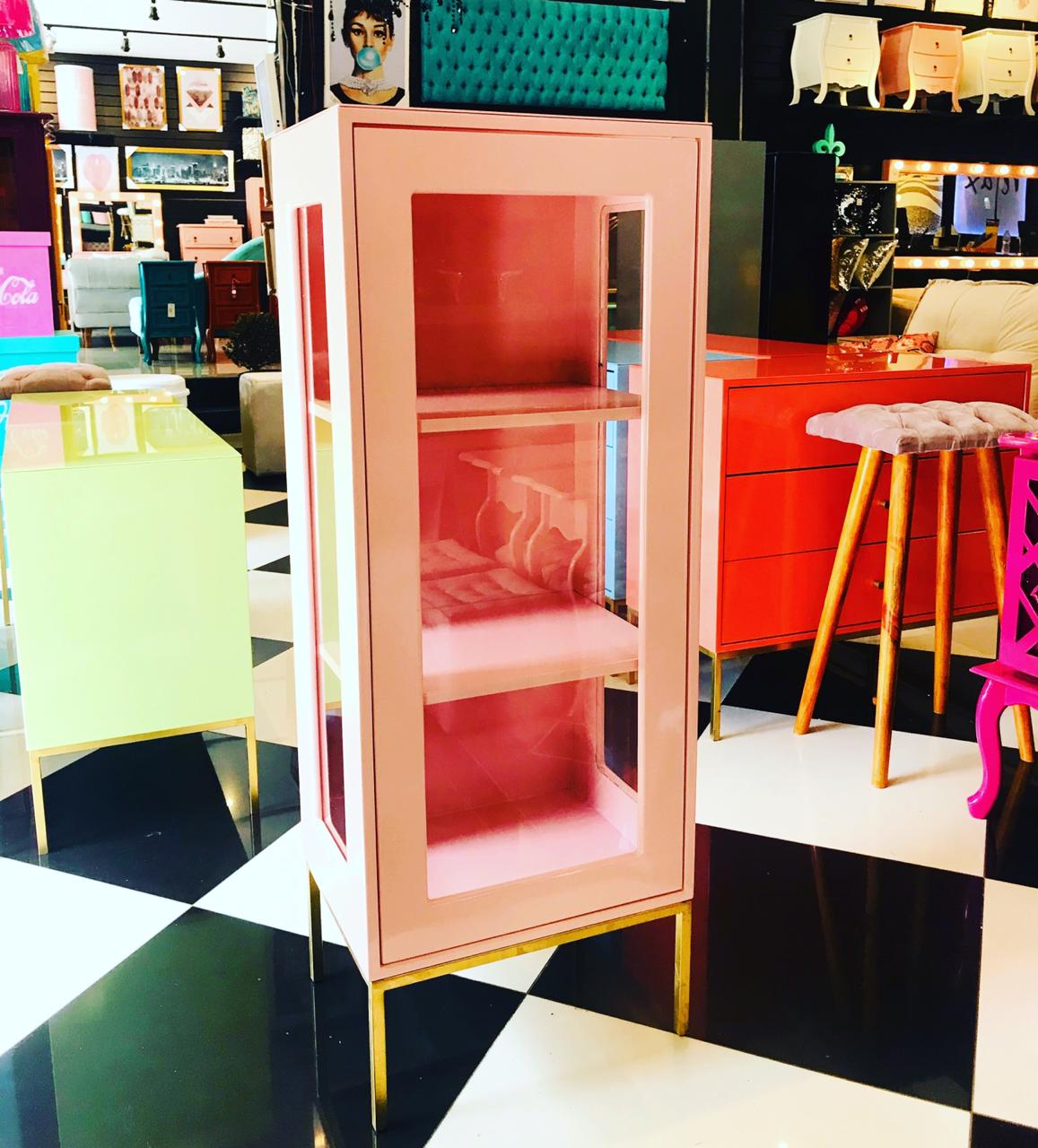 Cristaleira Industrial 1 Porta Rosé