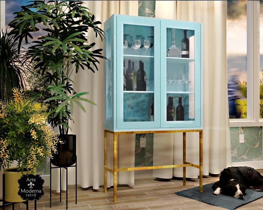 Cristaleira Industrial 2 Portas- Azul bebe