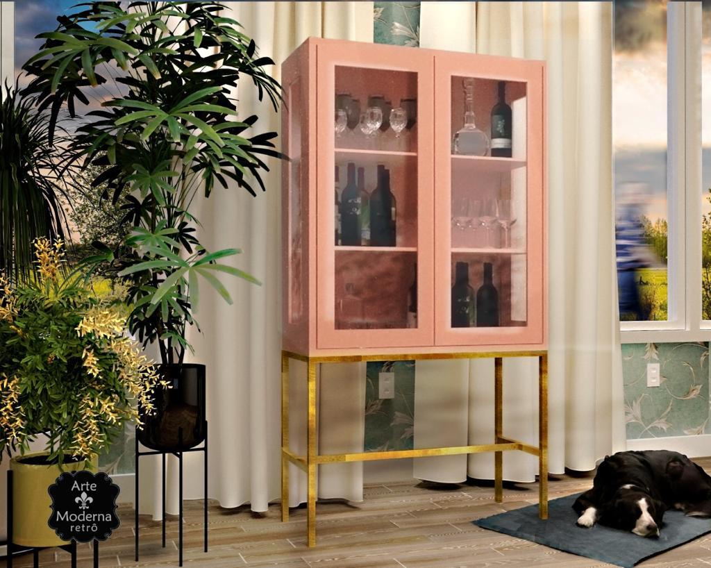 Cristaleira Industrial 2 Portas- Rosé