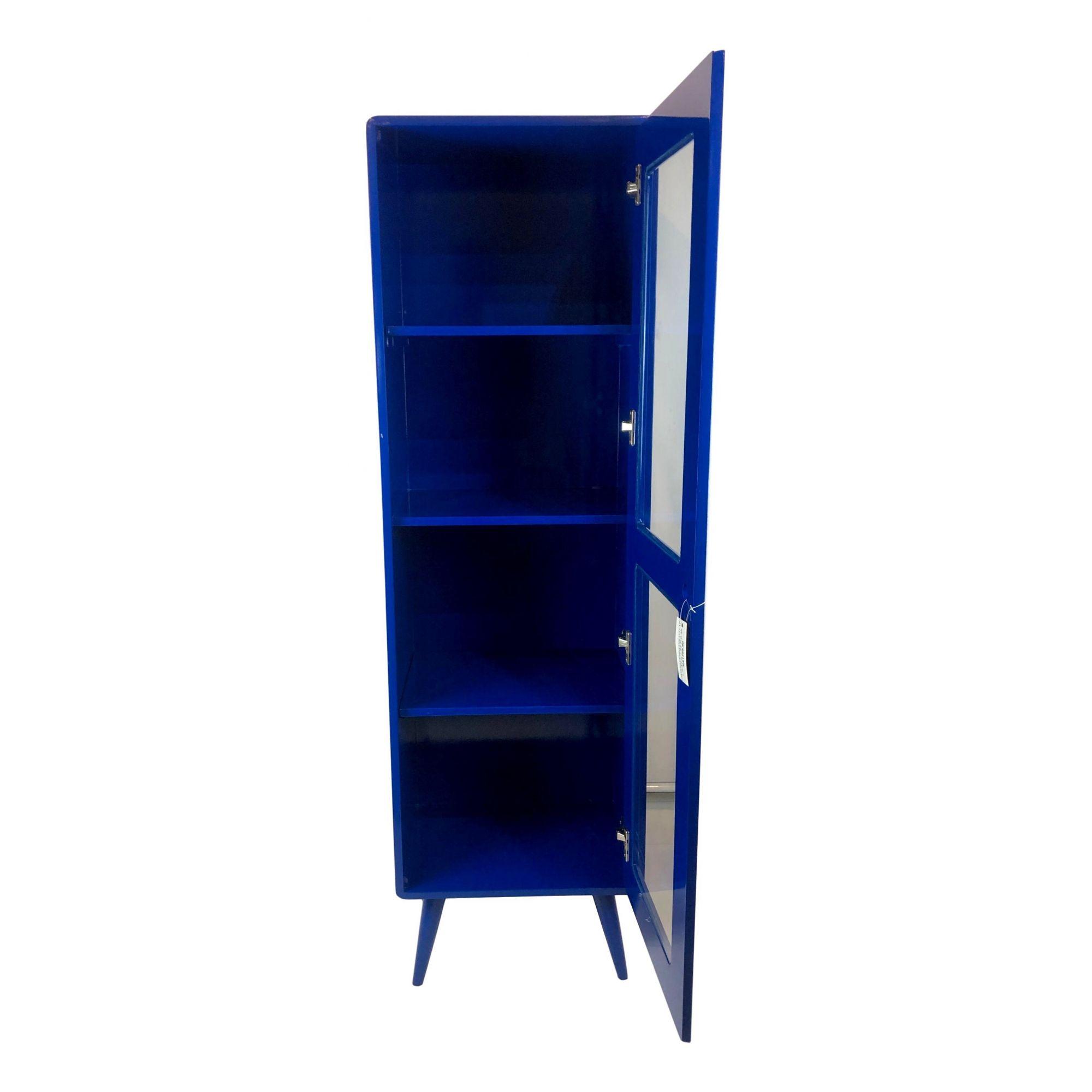 Cristaleira Pé Palito 1 porta Azul Bic