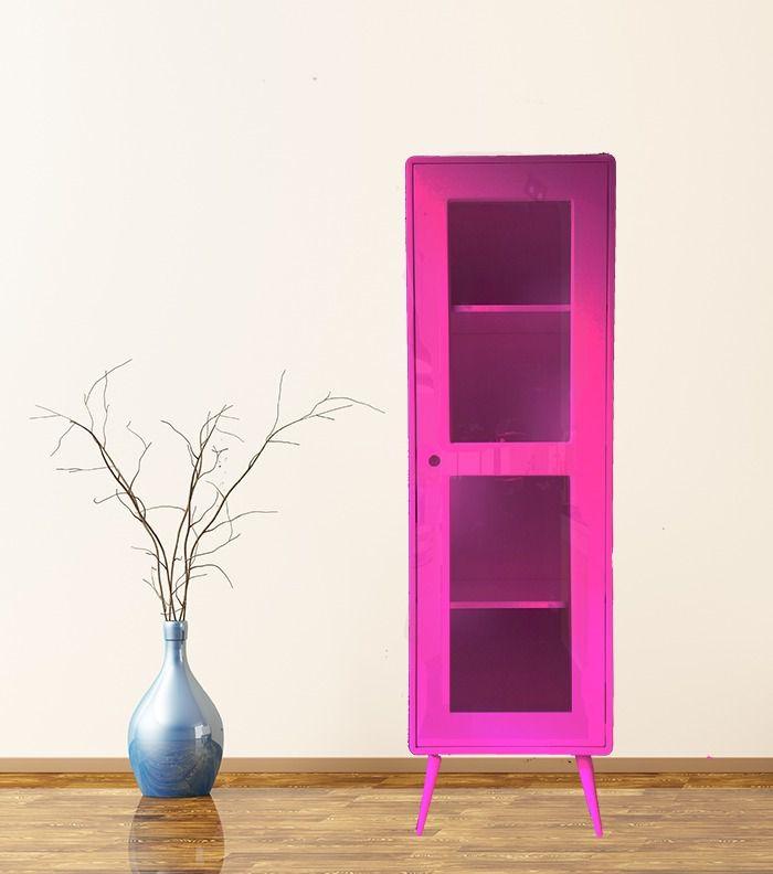 Cristaleira Pé Palito 1 porta Rosa Pink