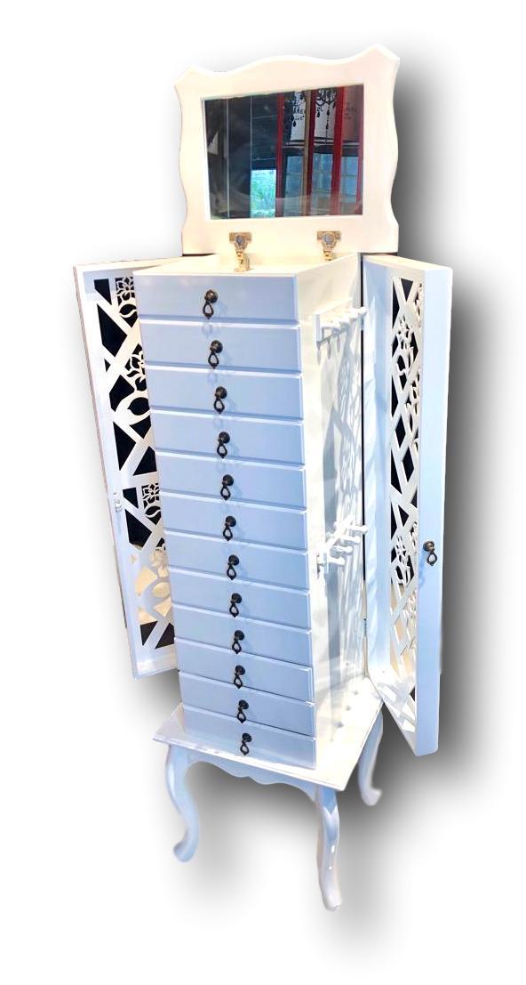 Porta Jóias 12 gavetas Branco