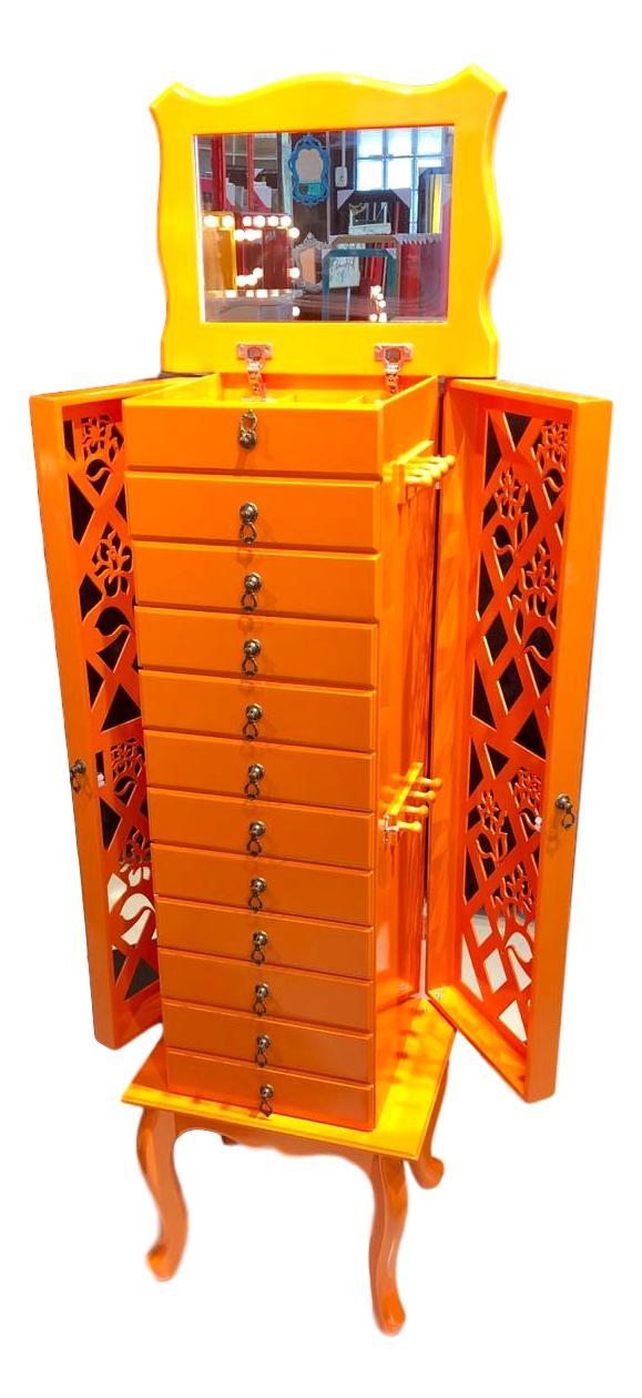 Porta Jóias 12 gavetas Laranja