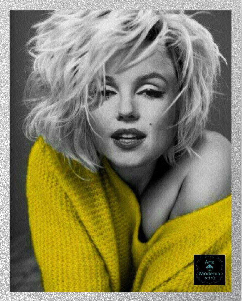 Quadro Marilyn- Blusa Amarela