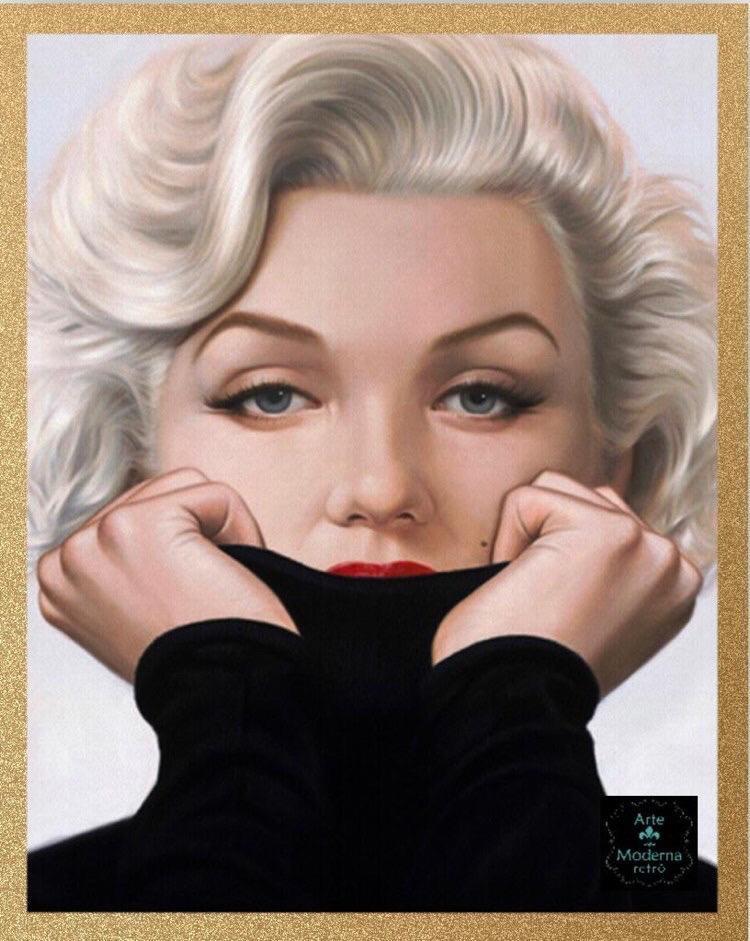 Quadro Marilyn blusa preta