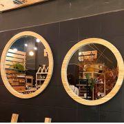 Espelho com Moldura em Pinus