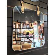 Espelho Retangular Sem Moldura - Alça Sisal