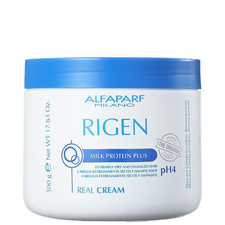 Alfaparf Rigen Milk Protein Plus Real Cream  Máscara de Tratamento 500 g