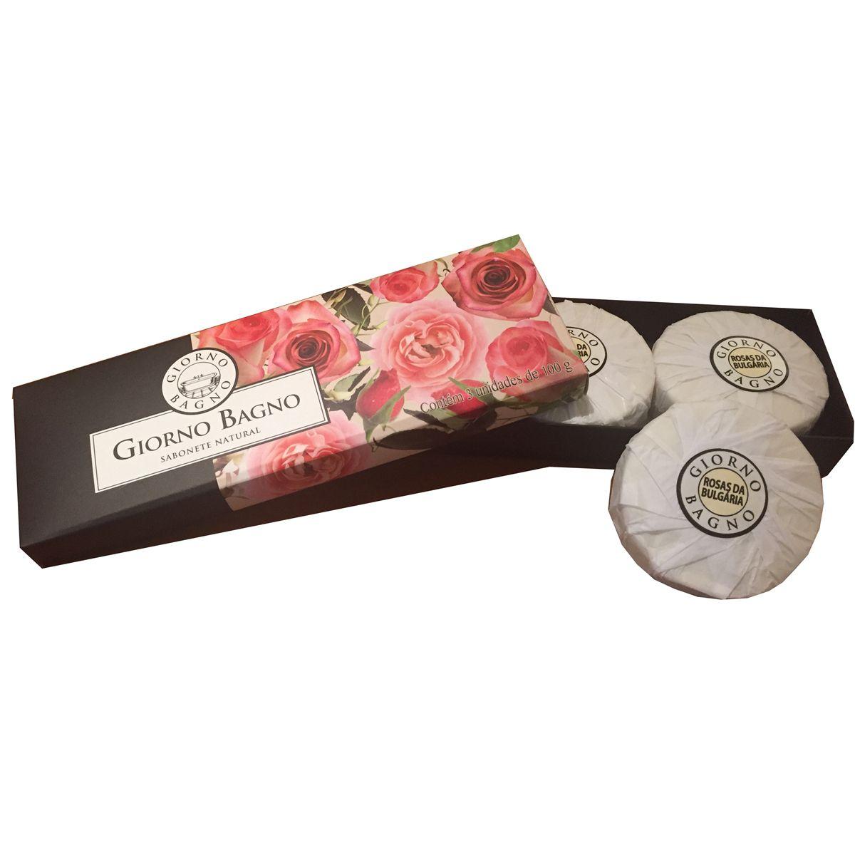 Kit Giorno Bagno Rosa 3 x 100 g
