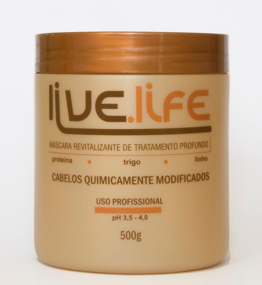 Live Life Másscara Cabelos Quimicamente Modificas 500g