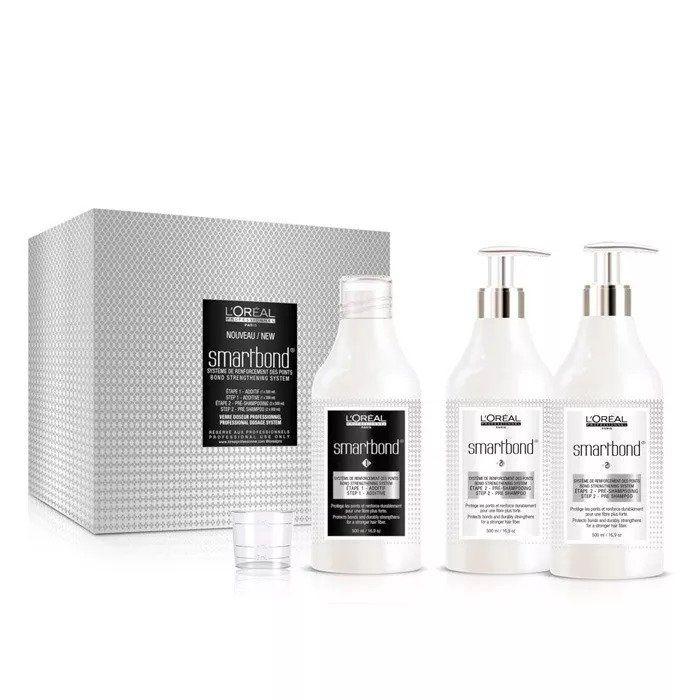 Loreal Profissional - Smartbond Kit - 1 Aditivo 500ml + 2 Shampoos 500ml